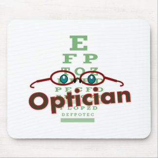 Optician--Eye chart Gifts Mouse Pad