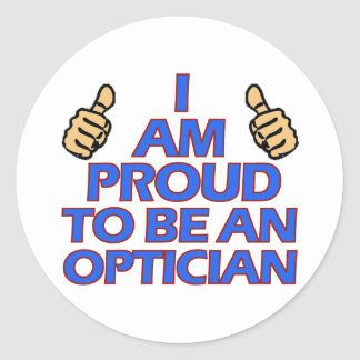 Optician.png Classic Round Sticker