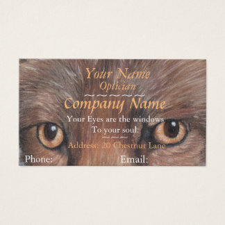 opticians eyes picture of fox eyes art appointment business card
