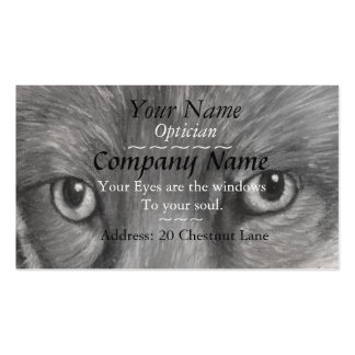 opticians eyes picture of fox eyes original art business card