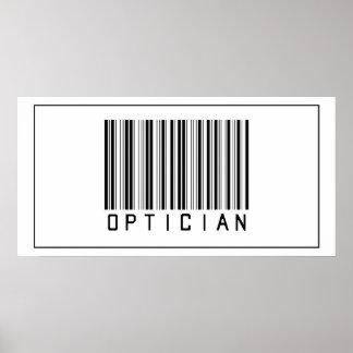 Óptico del código de barras póster