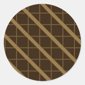 óptico - reviste con cobre pegatinas redondas