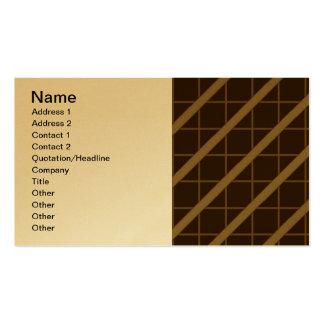 óptico - reviste con cobre tarjetas de negocios