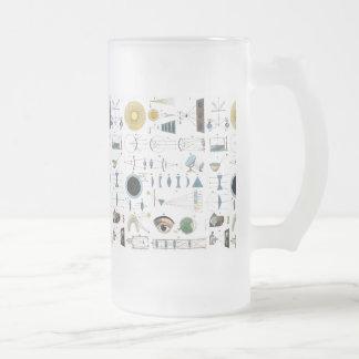 Optics Frosted Glass Beer Mug
