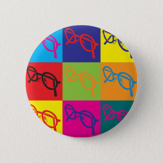 Optics Pop Art Pinback Button