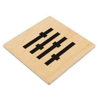 Optikal Recordings Wooden Coaster