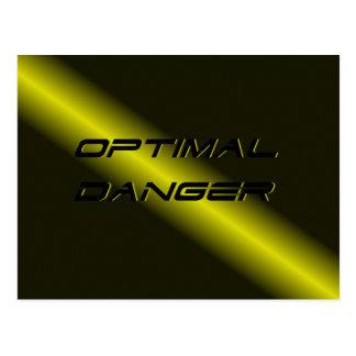 OPTIMAL DANGER. POSTCARD