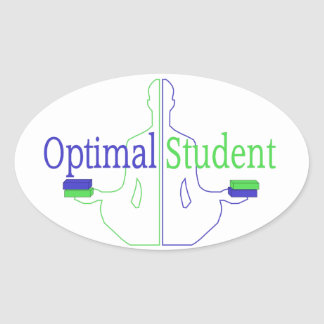 Optimal Student Oval Sticker