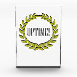 """Optime! Excellent job! Award<br><div class=""""desc"""">Description Optime! Excellent job! Honor a job most excellently well-done with this design featuring a laurel wreath and the Latin word for """"most excellently""""…""""Optime!"""" The laurel wreath was worn by Apollo, the Greek god of music, poetry, prophecy, medicine, light, and many other things. The wreath was also worn by victors...</div>"""