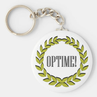 ¡Optime! ¡Trabajo excelente! Llavero Redondo Tipo Pin