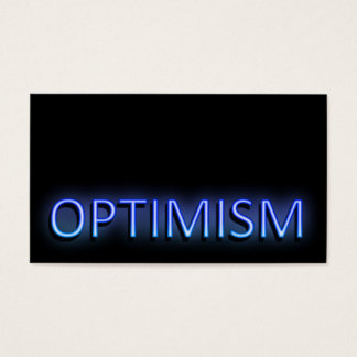 Optimism concept. business card