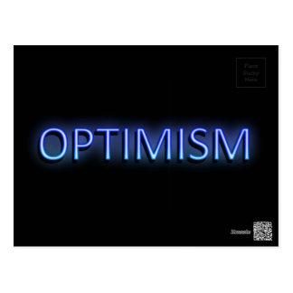 Optimism concept. postcard