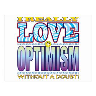 Optimism Love Face Postcard
