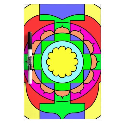 Optimism Mandala Dry-Erase Boards