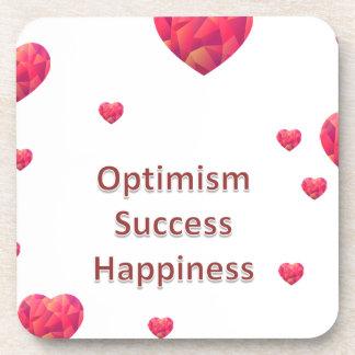Optimism Success Happiness Drink Coaster