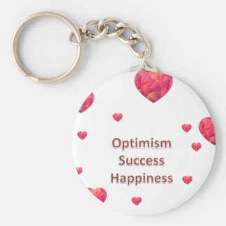 Optimism Success Happiness Keychain