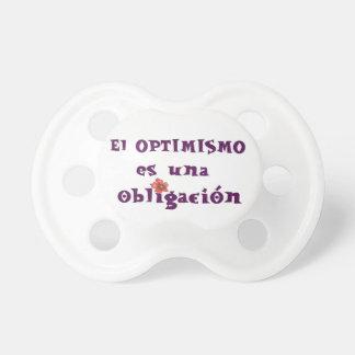 optimismo chupete de bebe