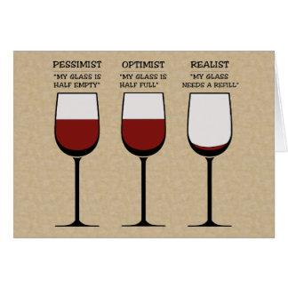 Optimist Pessimist and Realist Surprise Card