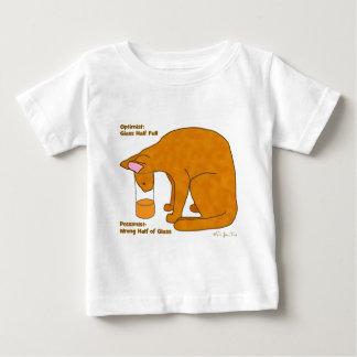 Optimist Pessimist Cat Baby T-Shirt
