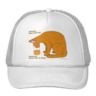 Optimist Pessimist Cat Trucker Hat