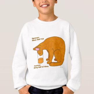Optimist Pessimist Cat Sweatshirt