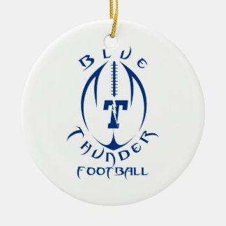 Optimist Youth Football Blue Thunder Under 12 Ceramic Ornament
