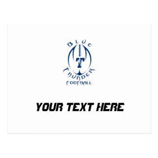 Optimist Youth Football Blue Thunder Under 12 Postcard