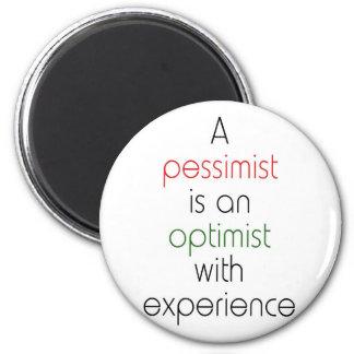 optimista del pesimista iman para frigorífico