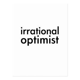 Optimista irracional tarjetas postales