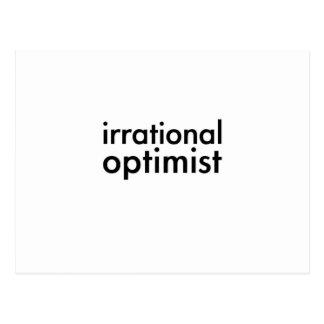 Optimista irracional tarjeta postal