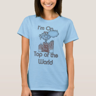 Optimistic Saying Goat Baby Doll T-shirt for her