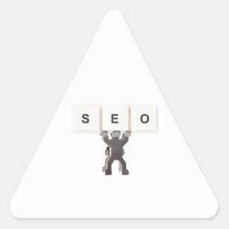 Optimización del Search Engine Pegatina Triangular
