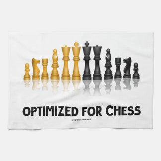 Optimizado para el ajedrez juego de ajedrez refle toallas de mano