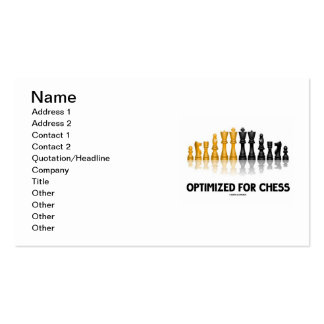 Optimized For Chess (Reflective Chess Set) Business Card Template