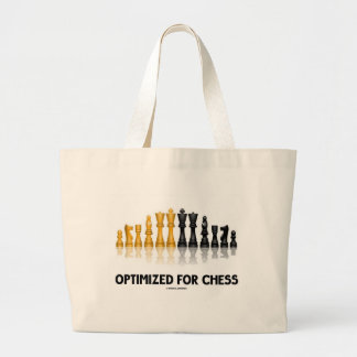 Optimized For Chess (Reflective Chess Set) Large Tote Bag