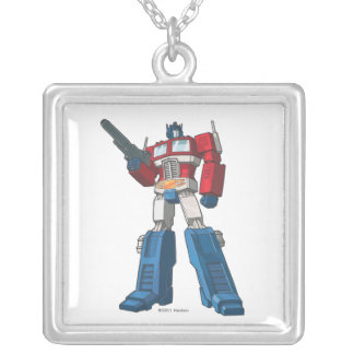 Optimus 1 square pendant necklace