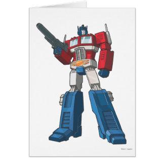 Optimus 1 tarjeta de felicitación