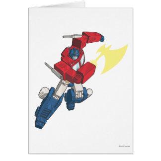 Optimus 3 greeting card