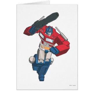 Optimus 4 greeting card