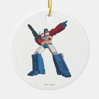 Optimus 5 adorno navideño redondo de cerámica