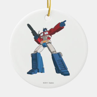 Optimus 5 Double-Sided ceramic round christmas ornament