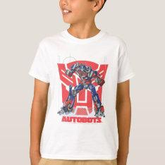 Optimus Autobot Shield Badge T-Shirt at Zazzle