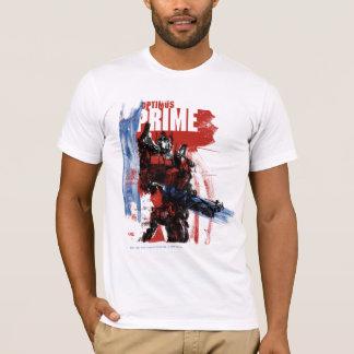 Optimus Prime Brush Strokes T-Shirt
