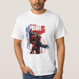 Optimus Prime Brush Strokes T-shirts