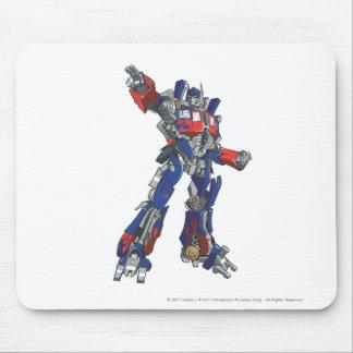 Optimus Prime Line Art 1 Mouse Pad
