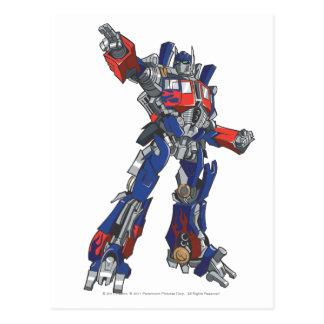 Optimus Prime Line Art 1 Postcard