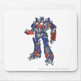 Optimus Prime Line Art 2 Mouse Pad