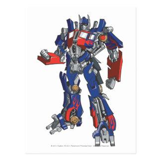 Optimus Prime Line Art 2 Postcard