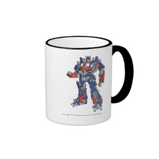 Optimus Prime Line Art 2 Ringer Mug