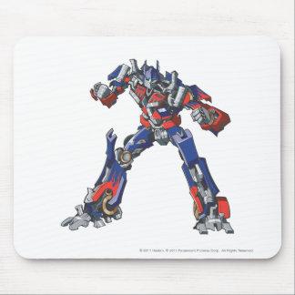 Optimus Prime Line Art 3 Mouse Pad